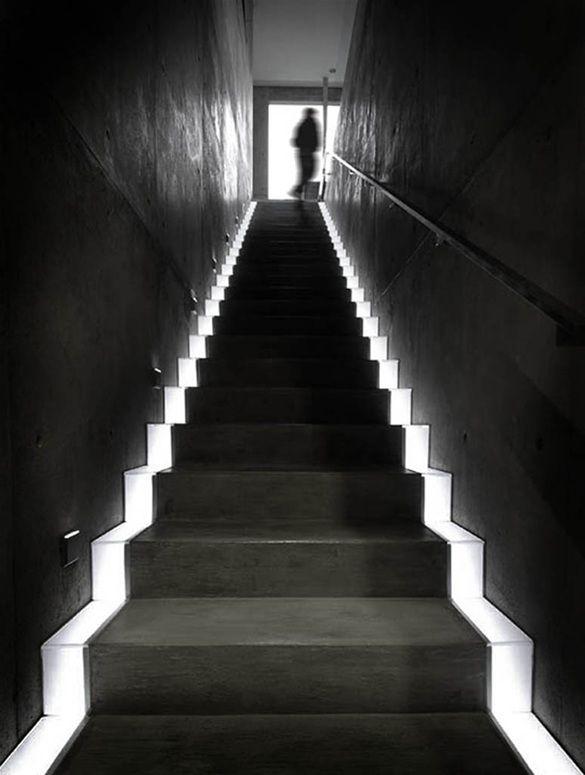 Lighting Basement Washroom Stairs: 31 Best Staircase Lighting Images On Pinterest