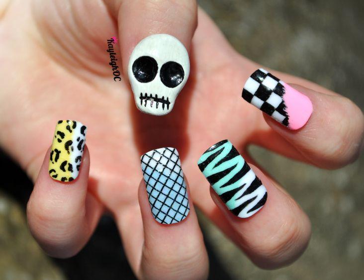 Funky Skull Nail Art by KayleighOC.deviantart.com on @deviantART - Best 25+ Skull Nail Art Ideas On Pinterest Skull Nails, DIY