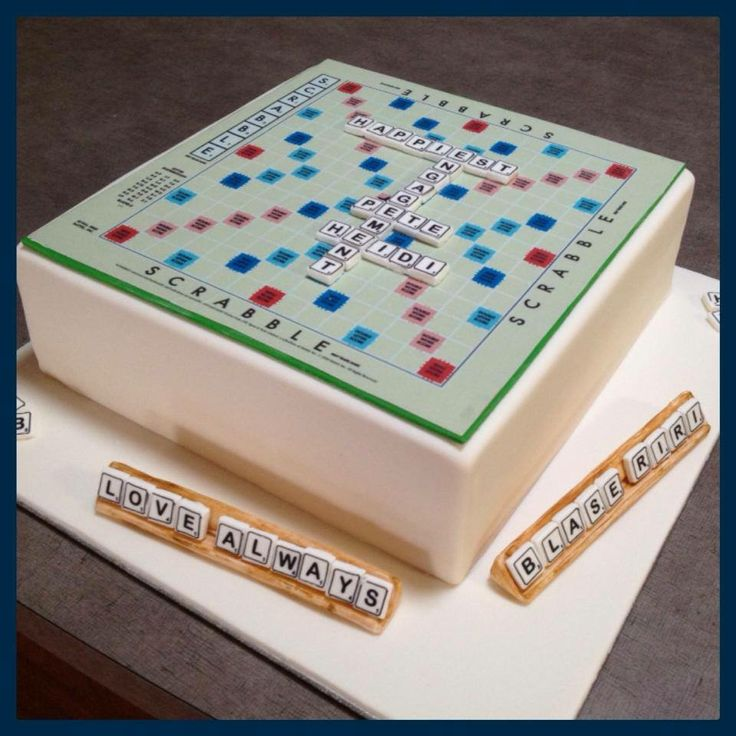 Scrabble Board Cake Cakes By Simone Pinterest