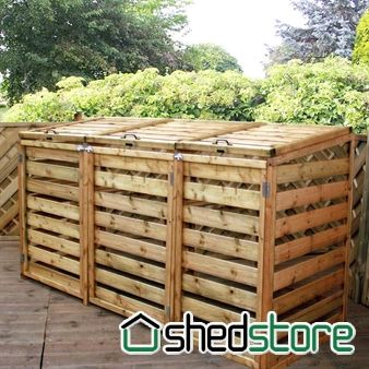 7x3 Windsor Triple Wheelie Bin Store