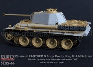SE35-14 Zimmerit PANTHER G Early Production, M.A.N pattern, Warsaw Uprising 1944