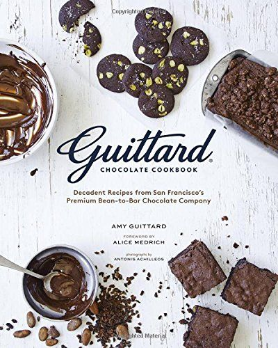 Guittard Chocolate Cookbook: Decadent Recipes from San Francisco's Premium Bean-to-Bar Chocolate Company by Amy Guittard http://www.amazon.com/dp/1452135339/ref=cm_sw_r_pi_dp_MmjZvb05NPW7Z