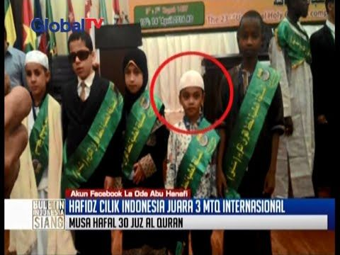 Musa, hafidz cilik asal Bangka, menangkan MTQ Internasional di Mesir - B...