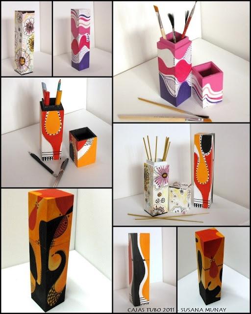 Susana Munay Arte abstracto Cuadros Minimalist abstract paintings: CAJAS TUBO