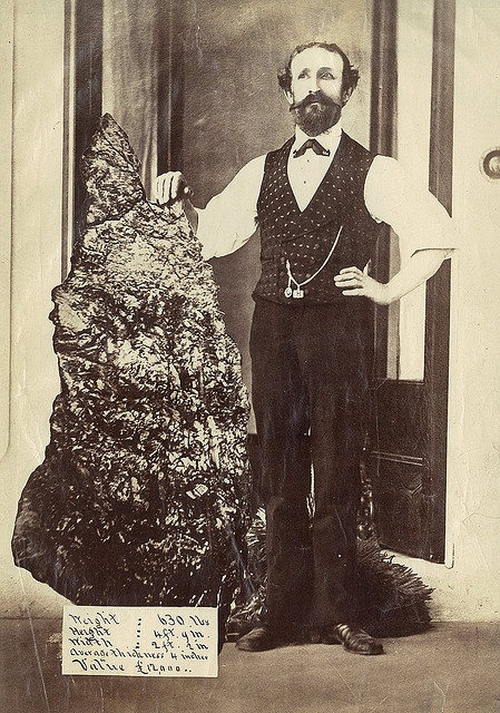 "Bernard Otto Holtermann and the world's largest ""nugget"" of gold, North Sydney, ca. 1874-1876 / montage photograph by American and Australasian Photographic Company by State Library of New South Wales collection, via Flickr"