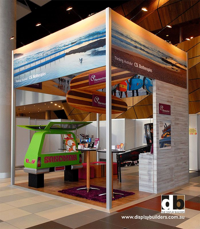 Even a corporate stand like CSL @ APCC 2012 can benefit from themeing to stand out...even with a part sandman van on the stand that doubled as a hospitality area.