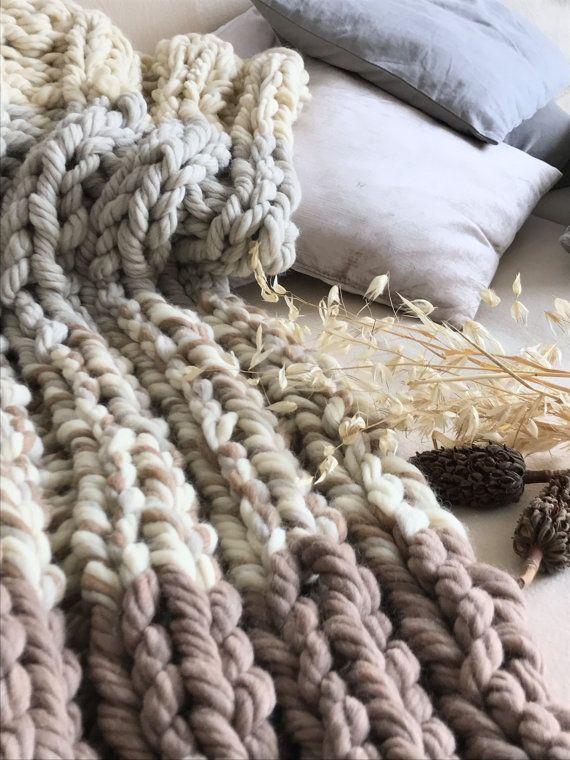 Hand Knitting Merino Wool Blanket : The best super chunky wool ideas on pinterest arm