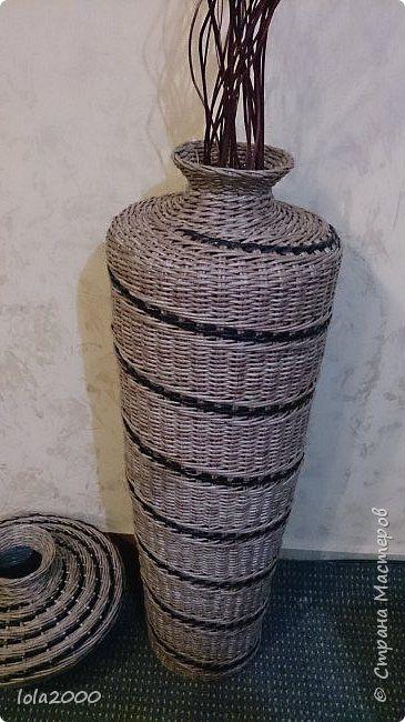 Поделка изделие Плетение последние плетенки 2014 года Трубочки бумажные фото 2