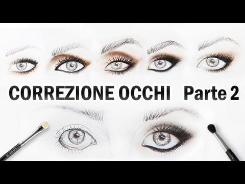 Trucco Correttivo Occhi PICCOLI,GRANDI,CADENTI - YouTube