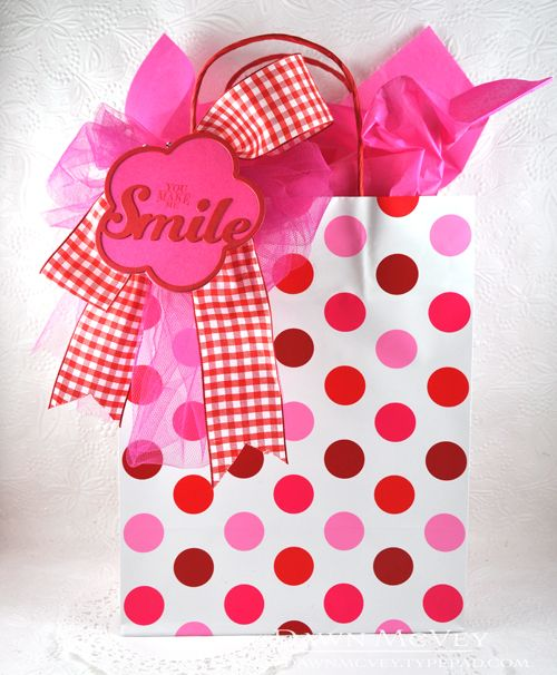 You Make Me Smile Gift Tag by Dawn McVey for Papertrey Ink (February 2015)