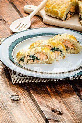 Photo de la recette Feuilletés saumon épinards