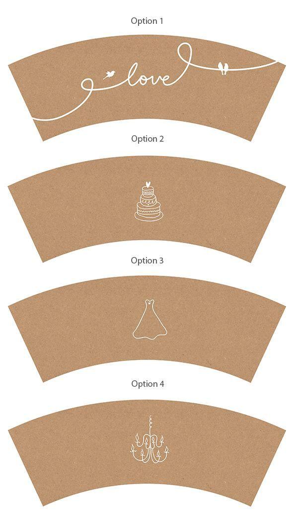 Printable coffee cup sleeves