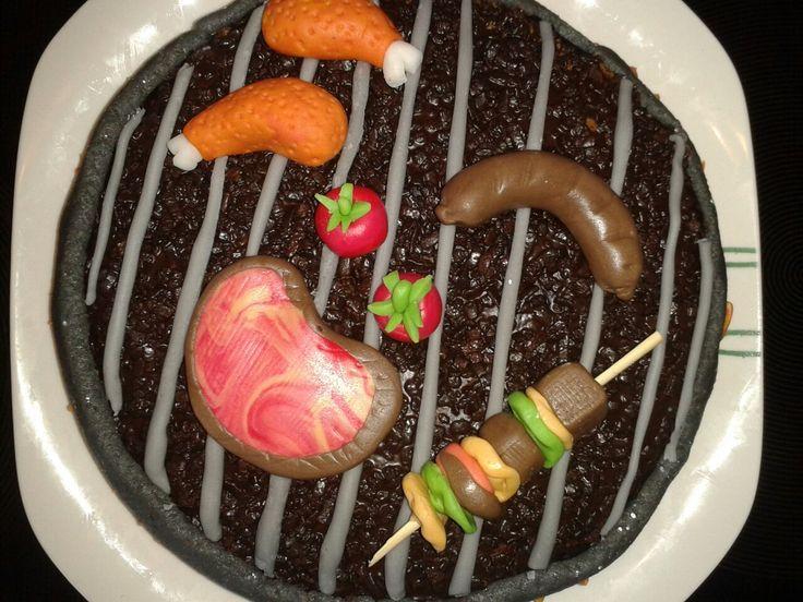 Torte für einen Grillfan