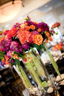 My friend Lindsey's wedding...most spectacular wedding flowers I've ever seen!  So bright and beautiful, just like the bride. :)