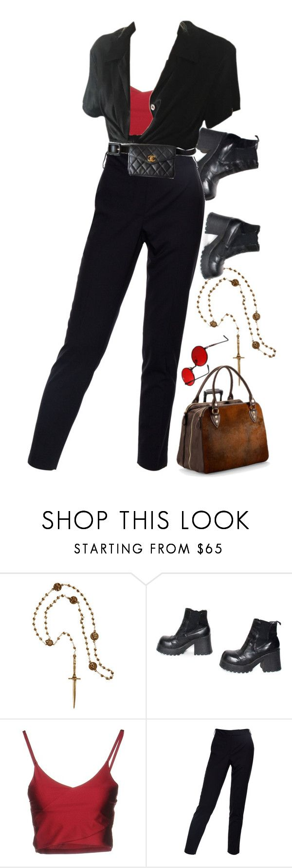 """""""Untitled #436"""" by okay-aliya on Polyvore featuring Pamela Love, Boutique de la Femme, Paul Smith, Chanel and Aspinal of London"""