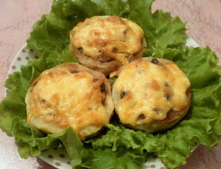 Кабачки с грибами, рецепты