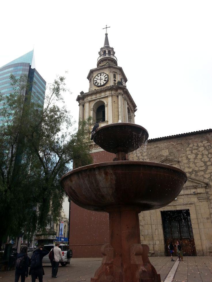 South America. Church of the colonial era. Santiago de Chile