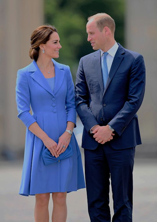 """ The Duke and Duchess of Cambridge at The Brandenburg Gate in Berlin, Germany, July 19th 2017."""