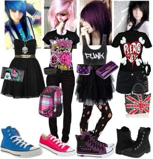 Not found of the outfits (except the black. Gotta love band merch), but I LOVE that purple hair <3