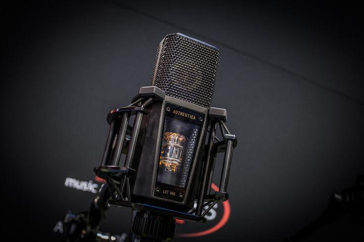 Black Lewitt microphone at the NAMM show 2017 in Anaheim, California