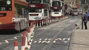 Buses on Princes Street