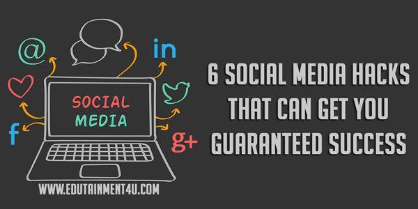 6 #socialmediamarketing  Hacks to Get you Guaranteed Success. http://bit.ly/1MQVwmr  #socialmediatips   #marketingtips   #marketingstrategy   #onlinemarketing   #digitalmarketing   #growthhacking