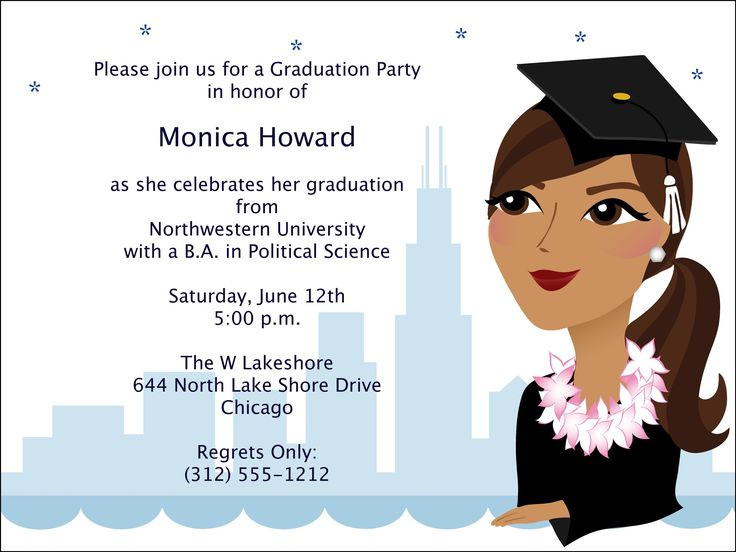 31 best graduation invitation templates images on Pinterest - graduation announcement template