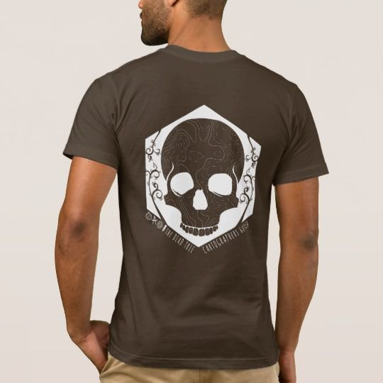Dead Tree Cartographers Guild (back and pocket) T-Shirt. T-shirt for all ex paper map makers! GIS, map, geo, cartography.