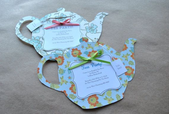 $3 each. Tea Party Invitations (Bridal Shower, Birthday, Baby Shower)