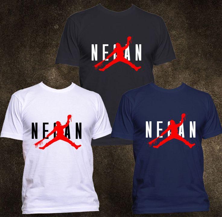 NEW Negan Lucille Michael Jordan Parody Funny T-shirt Men S - 3XL #Gildanorother #GraphicTee