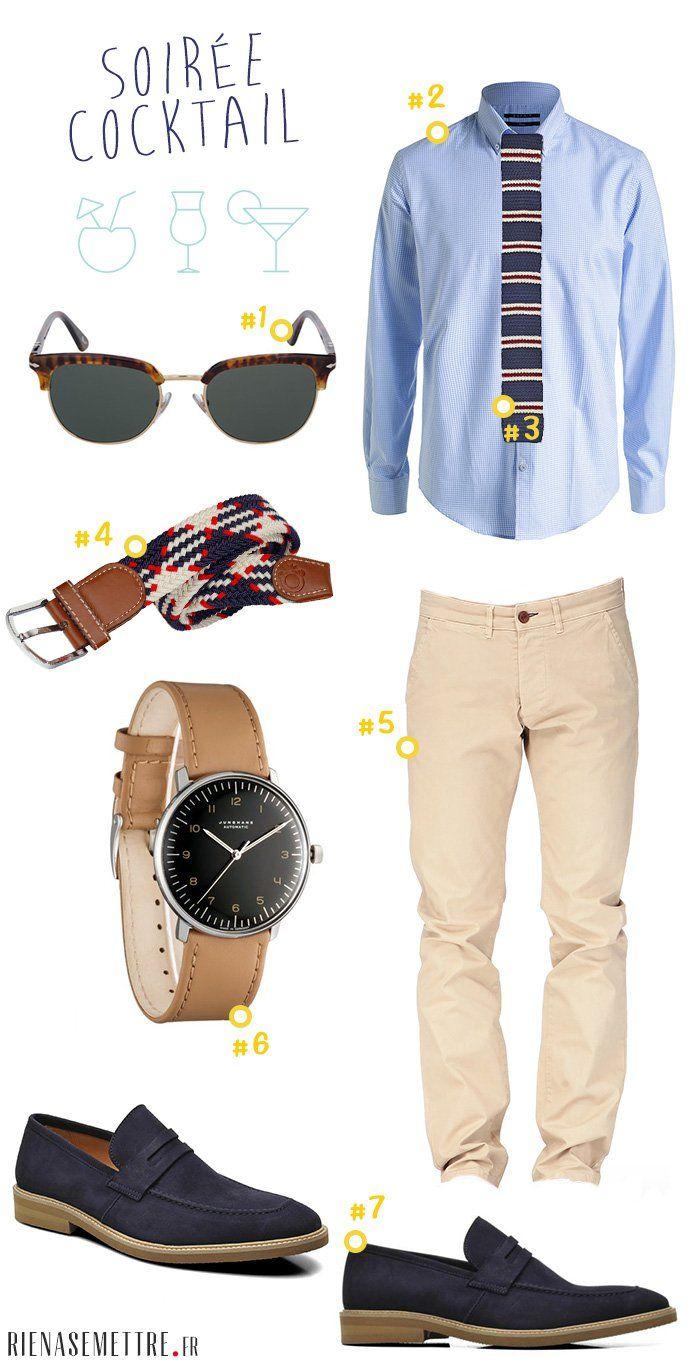 Mode homme été - Look chic pour After Work et soirées branchées