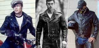 Resultado de imagem para moda masculina anos 60 jaqueta de couro