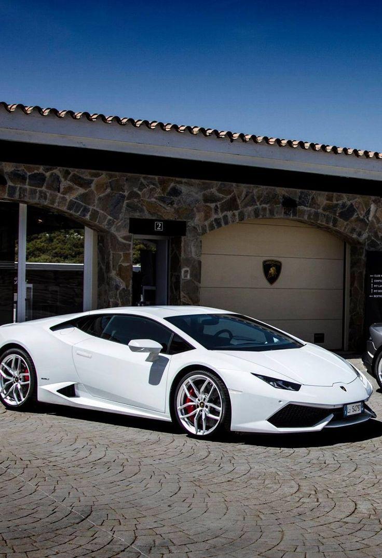 2014 Lamborghini Huracán in white.