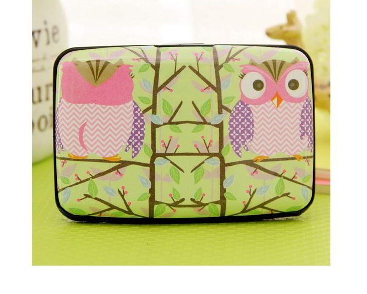 Owl Pattern Decorated Square Shape Design Green.  Fashionable with passion REPIN if you like it.😍 Only 43.5 IDR