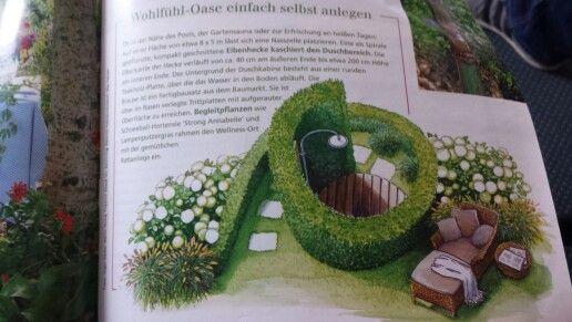Schöne idee für eine garten dusche- würde die hecke glatt noch höher wachsen lassen dann kann keiner mehr rein schauen :)