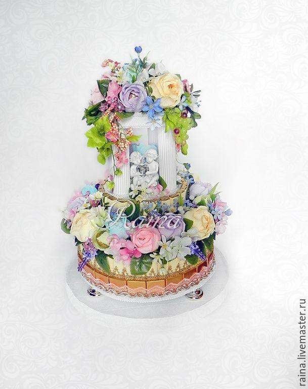 Свадебный торт из конфет #ручнаяработа #handmade #вдохновение #inspiration #свадьба #wedding