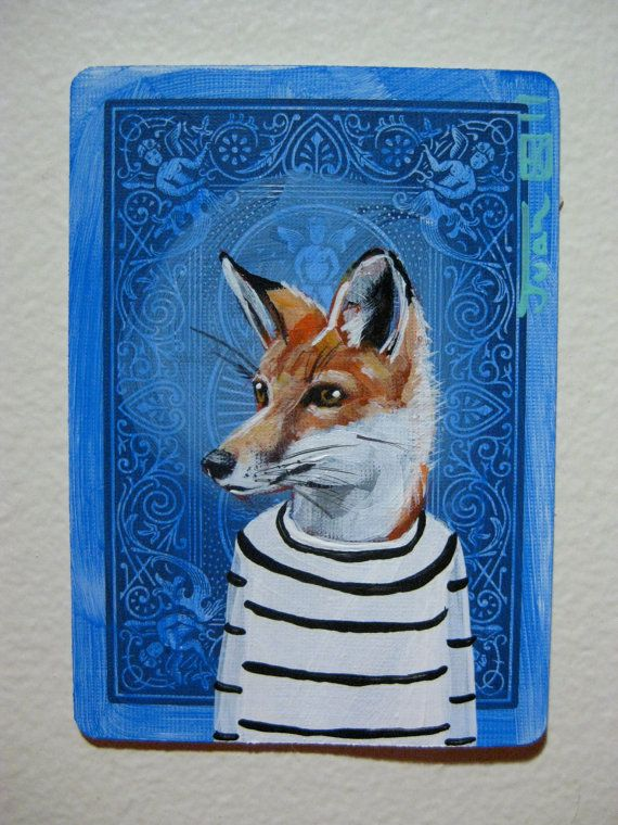 "I'm loving this whimsical ""Red Fox Portrait N14"" by Juan Estrella."
