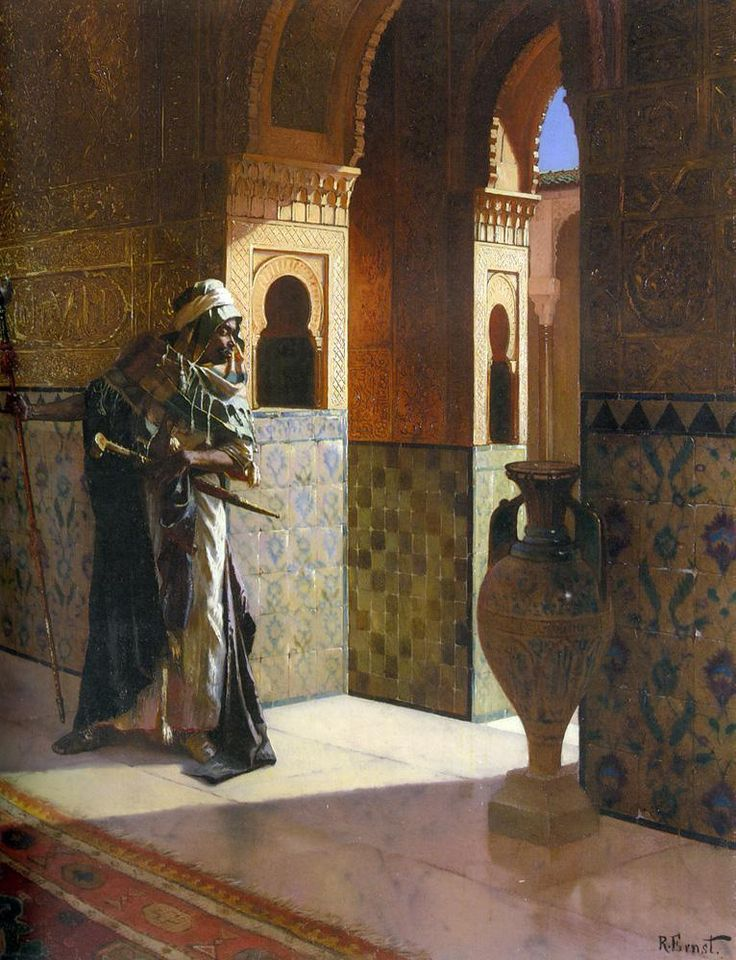 Mind-blowing oil paintings by Austrian/Jewish painter, LUDWIG DEUTSCH, LEON GEROME & RUDOLF ERNST in the late 1800s:  t.