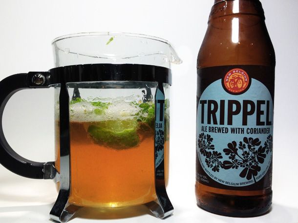 Use a french press to add flavor to beer