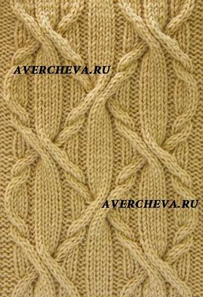 beautiful russian knitting pattern - cables