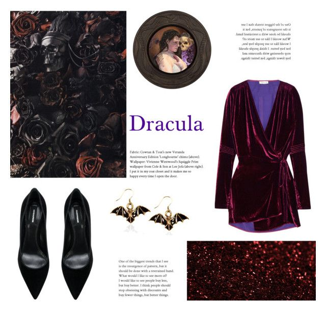 """""""Day 18: Dracula (Book Challenge)"""" by yosifova ❤ liked on Polyvore featuring Attico, Dsquared2, Whimsical Watches, country, outfit, Elegant, books, challenge and Dracula"""