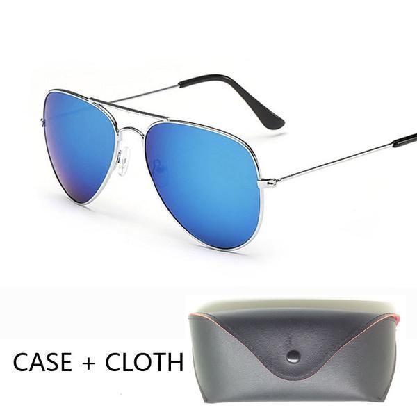 f0b79d94eb67 FuzWeb Aviation aviator Sunglasses Men with Package pilot sun Glasses pilot  Women mirror oculos de sol bag box case  aviationpilot  aviationpilotmen ...