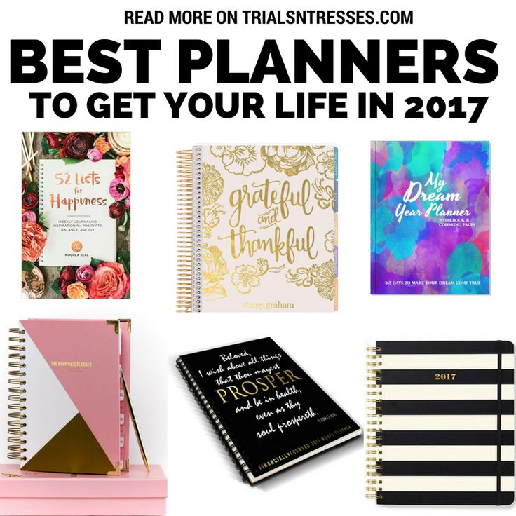 Best Planners To Get Your 2017 In Order - Trials N Tresses