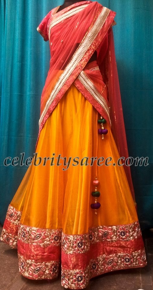 Half Sarees with Tussels
