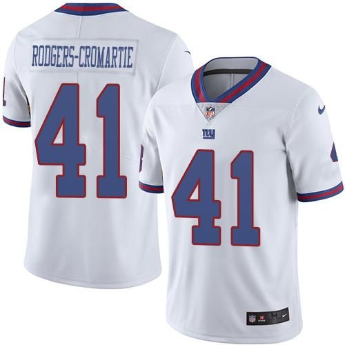 Nike Giants  41 Dominique Rodgers-Cromartie White Men s Stitched NFL  Limited Rush Jersey  7b37d815e