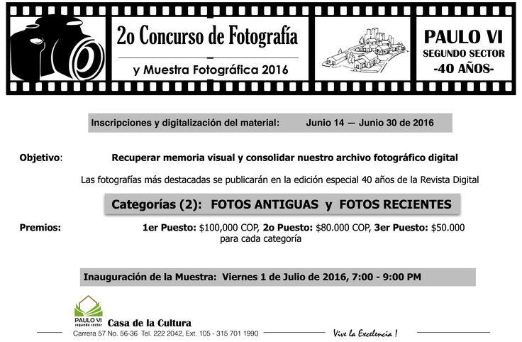 2o Concurso y Muestra Fotográfica 40 años