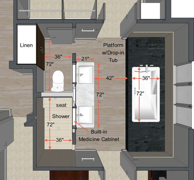 design basics for master bath idea book giving ideal measurements and this plan which i love