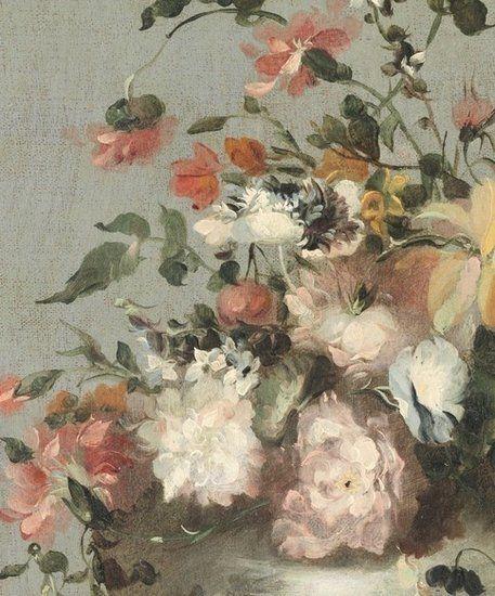 Fotobehang Vintage Flowers Rijksmuseum 42371 - Behang koopjes.nl