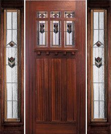 Stained Glass Door with Matching Sidelight