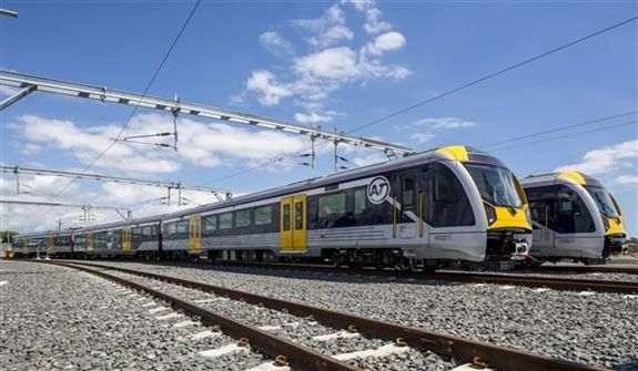 In New Zealand portions of the railway are electrified, which means the trains operate from electricity transmitted through overhead wires. Advice from TrackSAFE NZ.